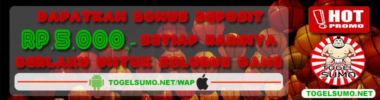 Bonus Deposit 5 ribu